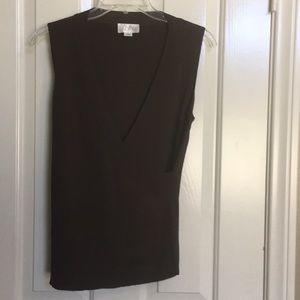 ANN TAYLOR LOFT brown sleeveless